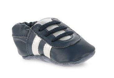 Baby sneaker leather bottom